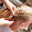 Stock Photo: Weaving braid.