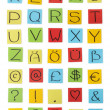 """Colored paper"" alphabet. Capital letters. — Stock Photo"