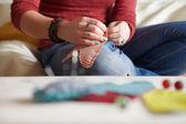 Sewing process. — Stock Photo