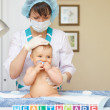 Baby healthcare and treatment — Stock Photo
