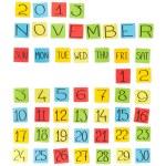 Multicolor calendar: November 2013. Pieces of colored paper. — Stock Photo