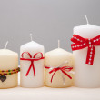 Decorated candles — Stock Photo