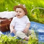 Boy in garden — Stock Photo #37749833
