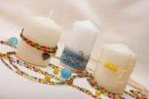 Decorating candles — Stock Photo