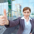 Stock Photo: Businesswomshows thumb.