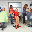 Stock Photo: Workflow in hair salon.