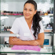 Stock Photo: Spsalon. Portrait of manicurist.