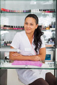 Spa salon. Portrait of manicurist. — Stock Photo