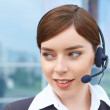 Businesswoman with headset. — Stock Photo #38693933