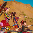 Tribal dancers. Women in ethnic costumes. — ストック写真 #39154033