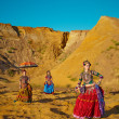 Tribal dancers. Women in ethnic costumes. — ストック写真 #39154171