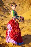Tribal dancers. Women in ethnic costumes. — Stock Photo