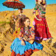 Tribal dancers. Women in ethnic costumes. — ストック写真 #39687579