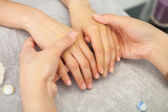 Spa salon. Manicure. Peeling. — 图库照片