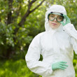 Stock Photo: Ecology and environmental pollution. Water testing.
