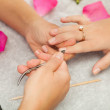 Spsalon. Manicure. — Stock Photo #40525935