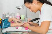 Spa salon. Manicure. — Stock Photo