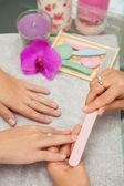 Spa salon. Japanese manicure. — Stock Photo