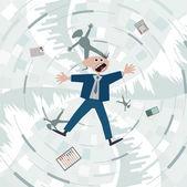 Financial crisis. Fall into the debt trap. — Stock Vector