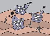 Průmyslové znečištění. — Stock vektor