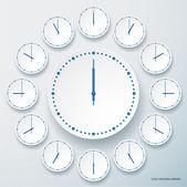 Uppsättning av runda klockor. — Stockvektor