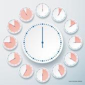 Set of round stopwatches. — Stock Vector