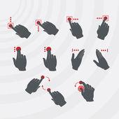 Common smartphone gestures set. — Stock Vector