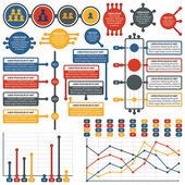 Vector infographics elements. Electronics set. — Vector de stock