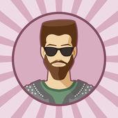 Один вектор человек аватар. — Cтоковый вектор