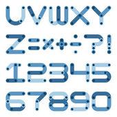 Vector flat alphabet in building kit style. — Stock Vector