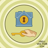 Einzelne vektor farbsymbol flach. haussicherheit. — Stockvektor