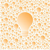 Vector light bulbs. Creativity and cooperation concept. — Stock Vector