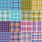 Big vector tartan textile texture set. — Stock Vector