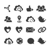 Set of vector social network icons. — Stock Vector