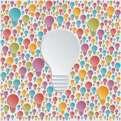 Background with vector light bulbs — Stock Vector