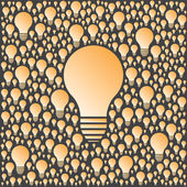 Background with vector light bulbs. Creativity and ideas concept. — Stock Vector