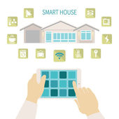 Vector smart house concept. — Stock Vector
