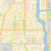 Vector city map — Stock Vector