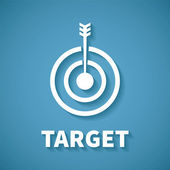 Vector concept of goal or target achievement with dart arrow — Vecteur