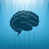 Vector concept of soaring human brain — Stock Vector