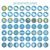 Vector weather icon set for widgets and sites. — Stock Vector