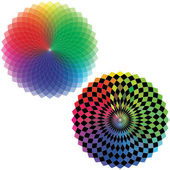 Spirograph - Color Spectrum (Set A) — Stock Vector