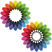 Spirograph - Color Spectrum (Set B) — Stock Vector