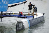 Extreme Sailing Series, Act 2, on Apr 14, 2013 in Singapore — Stock Photo