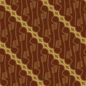 Javanese Batik Seamless Pattern — Stock Vector