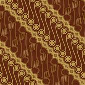 Javanese Batik Seamless Pattern — Stockvektor