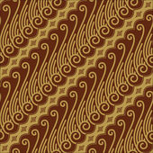 Javanese Batik Seamless Pattern — Stock Vector