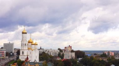 Landscape, view, of, Bryansk, Cathedral, Russia — Stock video