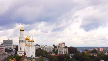 Landscape, view, of, Bryansk, Cathedral, Russia — 图库视频影像
