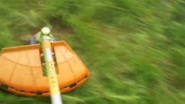 Lawn mower. — Stock Video
